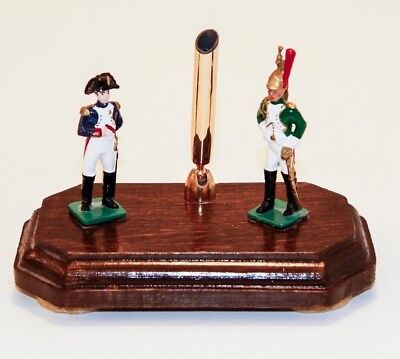 Pen Holder with Hand Painted Napoleon Figure & Soldier