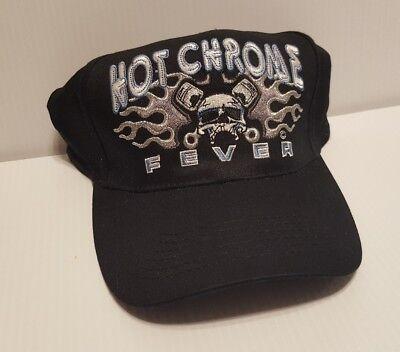 BIKER HOT CHROME FOREVER SKULL VINTAGE CAP HAT (NOT PERFECT LOOK AT - Adult Pics Hot