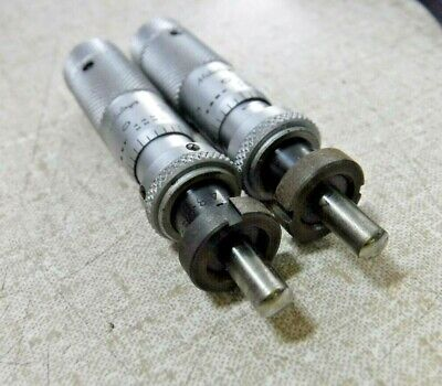 Mitutoyo Na Micrometer Head 0-10mm 0-25mm Lot Of 2