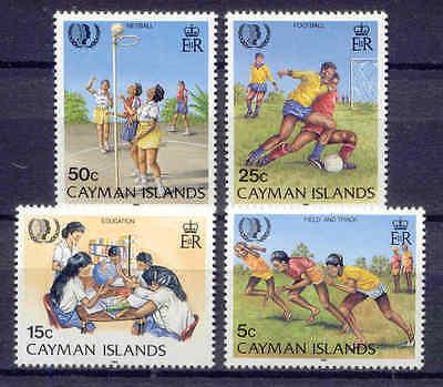 Jahr der Jugend, Sport, Kinder - Kaiman-Inseln - 553-556 ** MNH 1985
