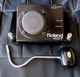 Roland KD 7 Bass Drum Trigger Pad With Beater
