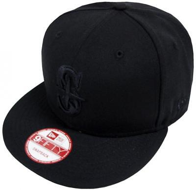 New Era MLB Seattle Mariners Black On Black Snapback Cap 9fifty Limited Edition