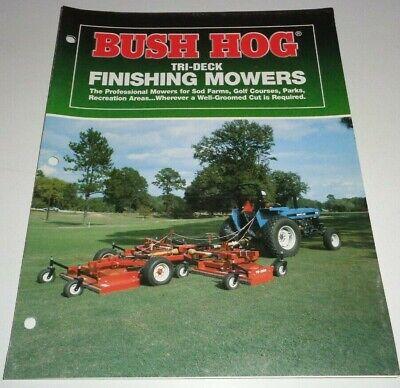 Bush Hog Td1500 Td1700 Tri-deck Finishing Mower Sales Brochure Literature