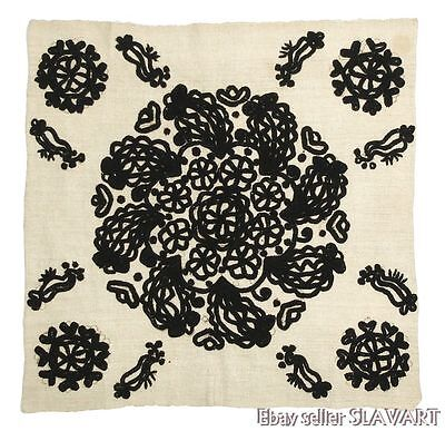 Hungarian Linen (ANTIQUE Hungarian embroidered linen tablecloth KALOTASZEG Romania folk textile )