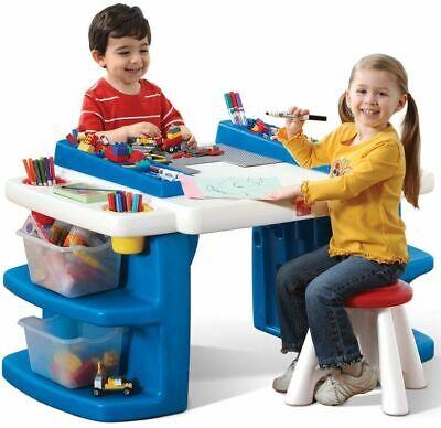 Toddler Activity Desk Kids Play Table Children Art Center Building Block - Children's Activity Table