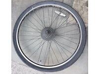 26 Rear wheel V Brakes Rim Barkes with tyre ! 8 speeds