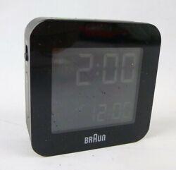 Braun LCD Display Quartz Travel Alarm Clock Black BNC008 Snooze Function