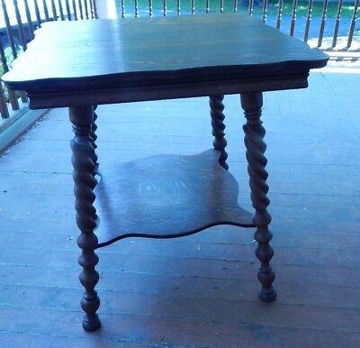 "1920's Square Oak Table Twisted Legs   26""Square 29 1/4"" Tall for sale  Marietta"