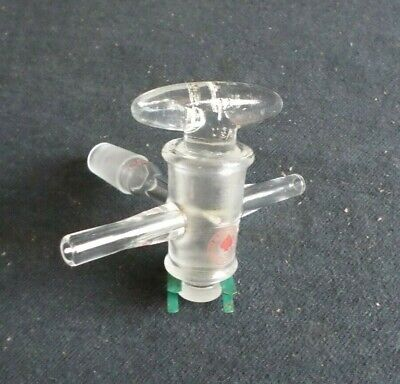 Ace Glass 3-way T-bore Glass Gas Adapter W Glass Stopcock 1420 Joint 7809-03