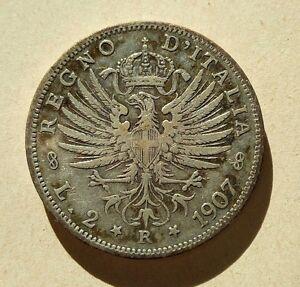 2 Lire - Regno d'Italia - 1907 - Vittorio Emanuele III°. - Italia - 2 Lire - Regno d'Italia - 1907 - Vittorio Emanuele III°. - Italia