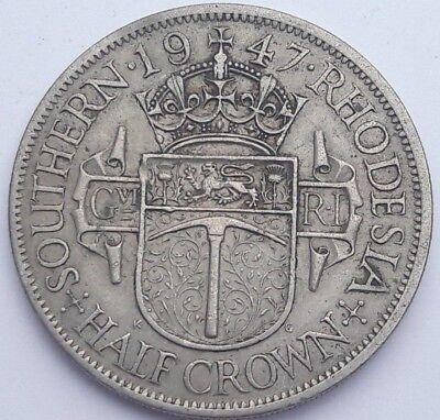 Southern Rhodesia George VI Half-Crown 1947 Extra Fine