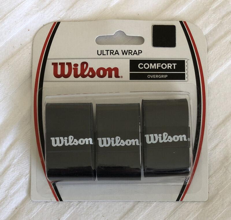 Wilson Ultra Wrap Tennis Overgrip 3-Pack, Black