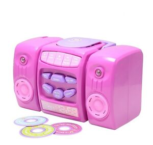 New Elegant Chad Valley CD-Player in Pink Colour with Musical Fun