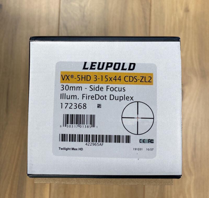 Leupold VX-5HD 3-15x44 FireDot Duplex CDS-ZL2 Side Focus SFP Scope 172368