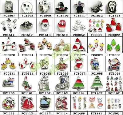 10p Christmas Halloween Festival Floating Charm Fit Living Locket  Free Shipping