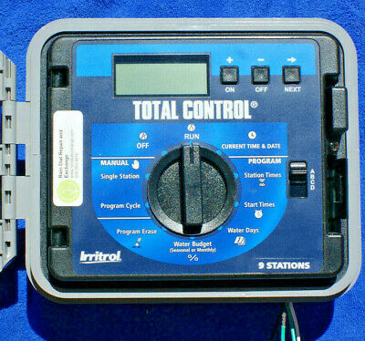 Irritrol Total Control TC-9EX-R 9 Station EXT / INT sys -Fst Shp,Warranty,Tested