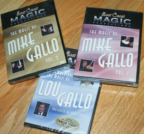 Mike & Lou Gallo THREE DVD set -- astounding coin & close-up --TMGS DVD blowout!