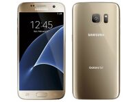 *Factory Unlocked - Excellent* 64GB Samsung Galaxy S7 Gold Platinum LTE/4G latest Android 7