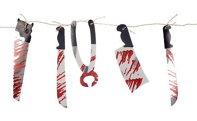 2M HALLOWEEN BLOODY WEAPON GARLAND PARTY PROP DECORATION KNIFE MEAT CLEAVER (Halloween 2 Knife)