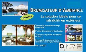 Kit brumisation terrasse patio exterieur brumisateur for Brumisateur bassin exterieur