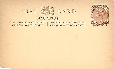 2 Different 1901-1905 Postcards Mauritius 2 & 6 Cents Postal History Unposted