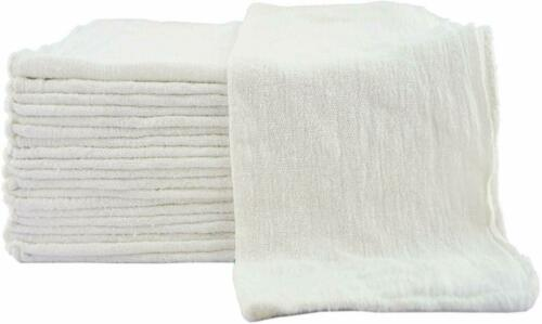 1000 New Industrial Shop Rags Cleaning Towels White Large 12x14 Towel B-Grade