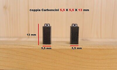 Coppia carboncini spazzole motore 5,5x5,5x13mm per phon fono asciugacapelli