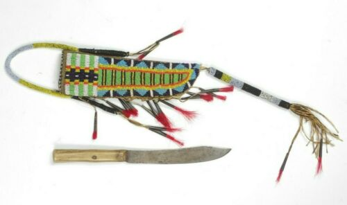 Antique Knife and Sheath- Sioux Lakota,  1860-1890
