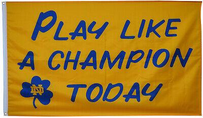 Notre Dame Irish (Notre Dame Fighting Irish Play Like A Champion Today 3X5FT FALG US)