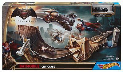 HOT WHEELS BATMAN V SUPERMAN BATMOBILE CITY CHASE TRACK NEW