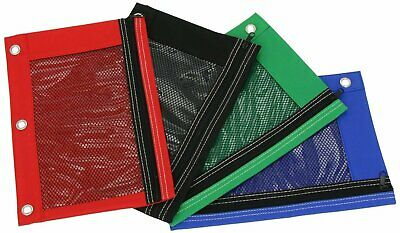 Pencil Pouch Case With Front Mesh Window Zipper Standard 3-ring Binder...