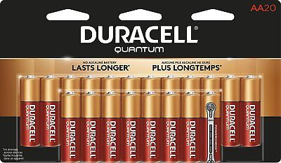 Duracell Quantum Alkaline AA Batteries, 20-Count, used for sale  Canada