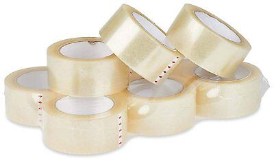 6 Rolls Carton Sealing Clear Packing Tape Box Shipping - 2 Mil 3