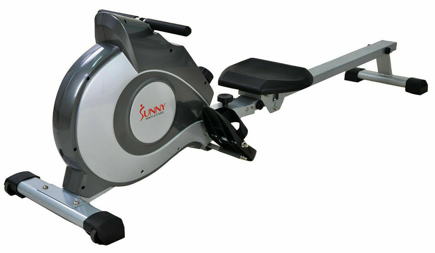 fitness magnetic tension system rower rowing machine