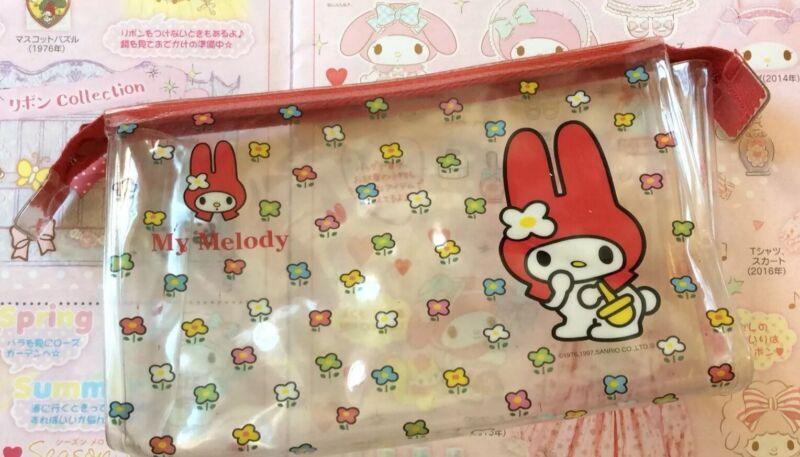 Sanrio Vintage 1997 My Melody Clear Zipper Pouch