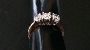 Valentines Day! 3 stone diamond ring. Trinity ring