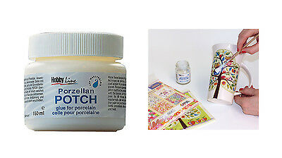 Porzellan Potch 150 ml (3,30 €/100 ml), Serviettenkleber für Porzellan