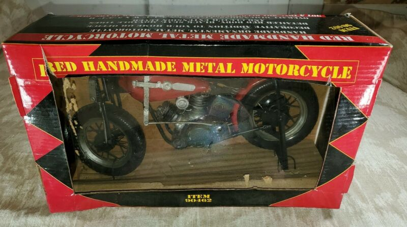 Red Handmade Metal Motorcycle #90462