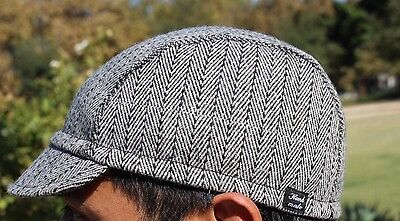 ebf8748e112 Cycling cap wool gray light color w  black lines one size handmade