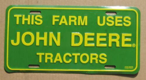 JOHN DEERE vintage advertisement License Plate