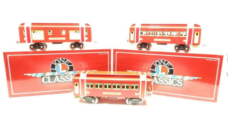 Lionel 6-13402 Standard Gauge Classics 300 Series Red & Cream Passenger set NIB