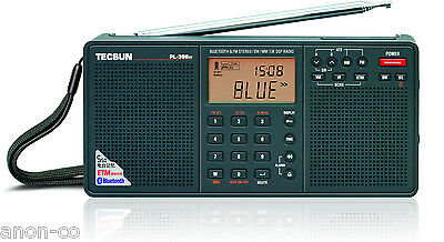 TECSUN PL398BT PLL DSP Bluetooth World Band Dual Speaker Radio