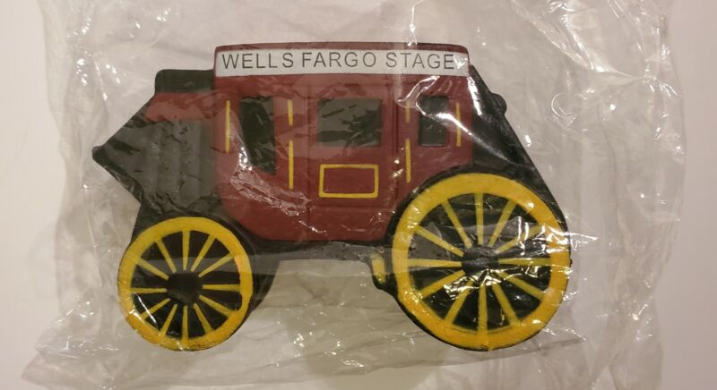 2006 Wells Fargo Mini Rubber Stagecoach Factory Sealed!