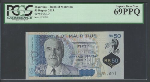 Mauritius 50 Rupees 2013 P65  Uncirculated Graded 69