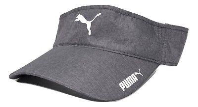 PUMA Reflective Logo Lightweight Polyester Adjustable Gray Golf Sun Visor