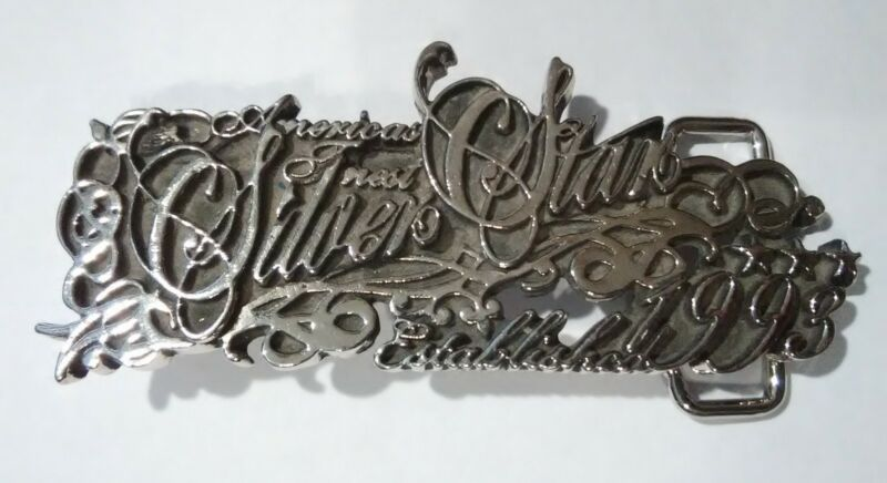 1993 SILVER STAR CASINO BEAUTIFUL BELT BUCKLE GREAT FOR ANY COLLECTION 1993!