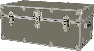 Rhino Storage Trunk Footlocker 32x18x14 for Camp, College & Dorm. USA Made