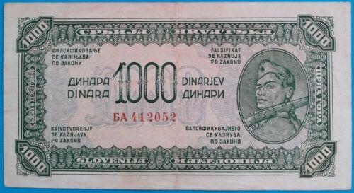 Yugoslavia ; 1000 dinara 1944, P-55b, VF