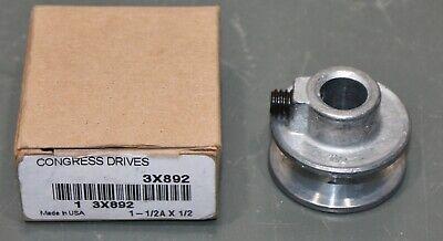 Congress V-belt Pulley Ca0150x050 1 Groove 1.5 Od 12 Fixed Bore 3l 4l A