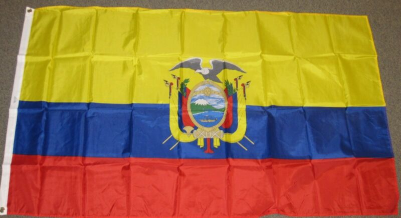 3X5 ECUADOR FLAG ECUADORIAN FLAGS NEW BANNER SIGN F120